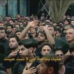 #علي_ابو_الانسانية  وينك يالگلت مافارگچ وينك😢 عليك بداعة امي لاتسد عينك💔 اريد براسي تمسح بوية چفينك😢  #آه_يازينب💔 👇 https://t.co/Snii6gklZk