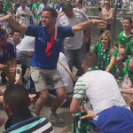 """#FRA and #IRL fans joining together for """"sit down for the boys in green"""" ???? #EURO2016 #TheFansDaily https://t.co/2IEjb8LeKb"""