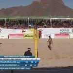 El punto de la victoria. Por primera vez en la historia 🇨🇷 tendrá participación olímpica en voleibol de playa https://t.co/OI9GxwaXvE