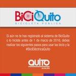 Aprovecha el fin de semana para aprender a usar la #BiciEléctricaQuito y entregar los documentos habilitantes 🚴 https://t.co/zNjr3VFAui