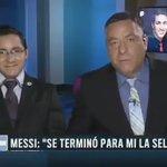 Extraordinario. Christian Bozzo abandona set de Fox, porque hablaban de Messi y no del campeón de la copa: Chile. https://t.co/AXmDoMlJDw
