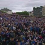 Það var gaman á Arnarhóli þegar Ísland komst yfir, 2-1. #emísland #ISL #ENG https://t.co/XzrqiQVipF