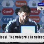 Mala noticia para el fútbol, comunicado oficial en el que Messi le dice adiós a la selección de Argentina. Leyenda. https://t.co/tcfJ573WiO