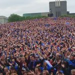 Amazing video in downtown Reykjavik of Iceland fans https://t.co/AML16s6evi (via @K100island)