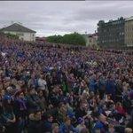 Downtown Iceland right now =)  #ISL vs. #ENG  #Euro2016 https://t.co/p2Jqt4el0u