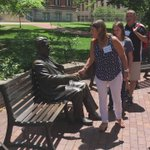 Shaking the hand of Herman B Wells for academic good luck for students ✅ https://t.co/aEW9JFG2vm