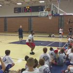 First question for #kubballs Frank Mason at Topeka youth hoops camp is if he can do a backflip. He obliged. https://t.co/aeBG3qfyWh