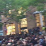 Happening NOW: @jeremycorbyn arriving at SOAS. Can you imagine another Labour MP getting this crowd? #KeepCorbyn https://t.co/fSU0f34Rr3