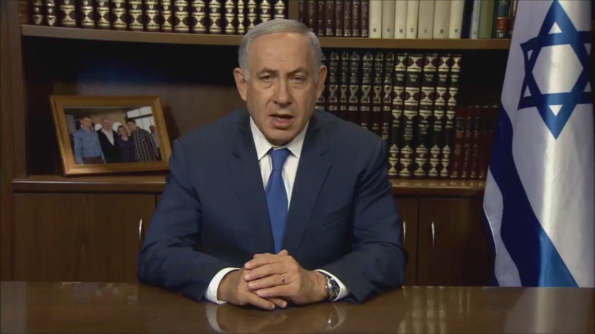 """Prime Minister Benjamin Netanyahu on terrorist attack in Kiryat Arba: """"You don't murder a sleeping child for peace."""" https://t.co/41vs7DGS64"""