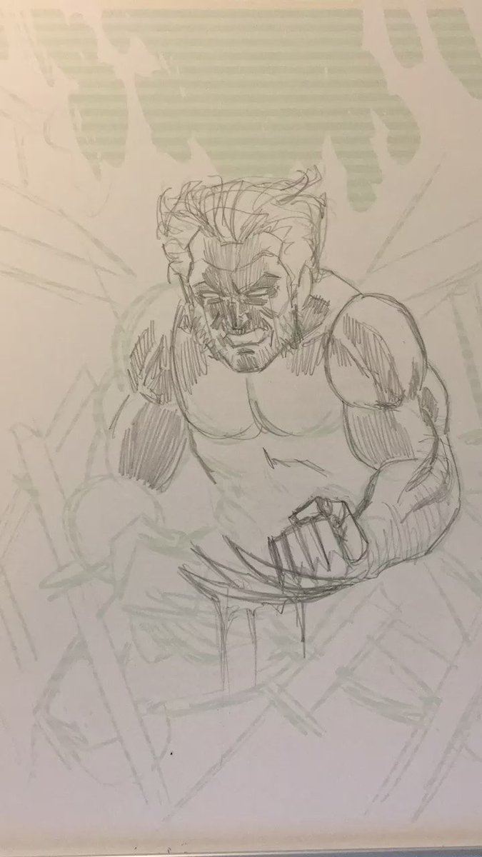 Inking a #Wolverine commission. https://t.co/38ztuzFGfb