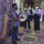 This is how people living next to Masjid al-Aqsa are woken up for suhoor. https://t.co/FVzo2zA2ps