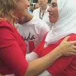 Emotional moment between Sophie Trudeau and Aziza. https://t.co/fSrhIElgfV