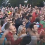 The #WAL fan zone in Cardiff Thing I love about us Welsh is we are an excitable bunch #Wal:-) https://t.co/NUPtQspeHJ