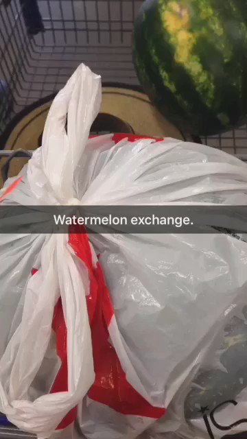 I learned today from my mom that you can return a watermelon if it isn't sweet enough. https://t.co/ecX0hbetVL