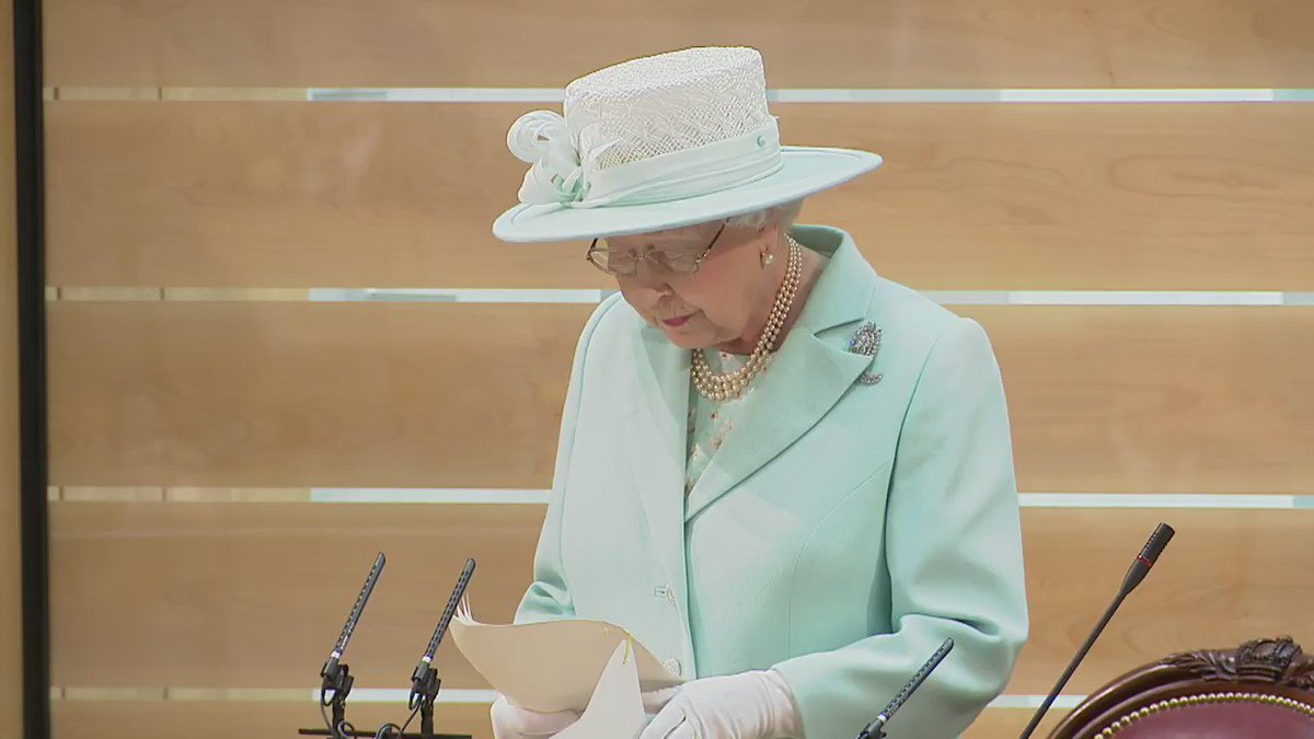 Her Majesty The Queen speaks at the @scotparl Opening Ceremony. Full speech: https://t.co/1tRPvHCynz  #SPBigDayOut https://t.co/yf2PgcRLCP