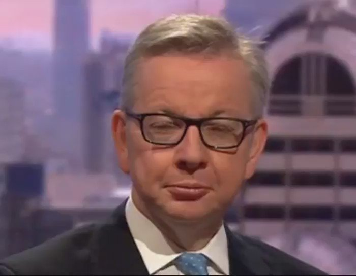 """Gove Lizard: """"they've forgotten about that clapping, all I have to do is blink like a real human and the job's mine"""" https://t.co/yDtpOBieAE"""