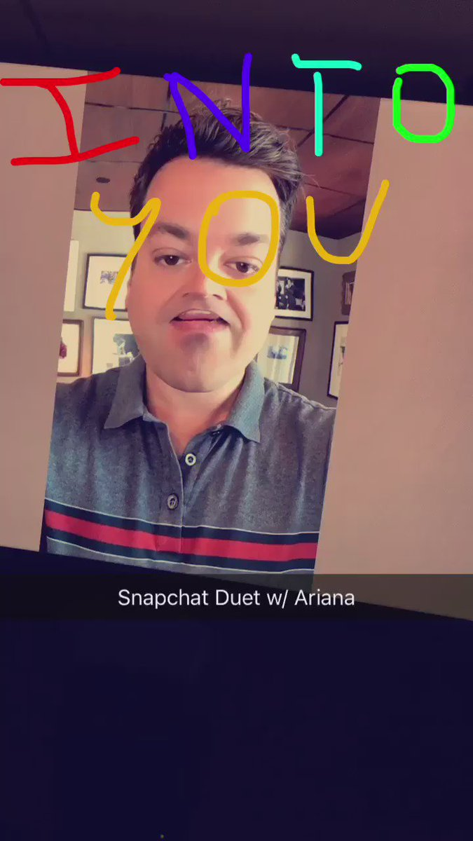 #SnapchatDuet with @ArianaGrande on the show tonight. #IntoYou #FallonTonight https://t.co/63vtbB0hoF