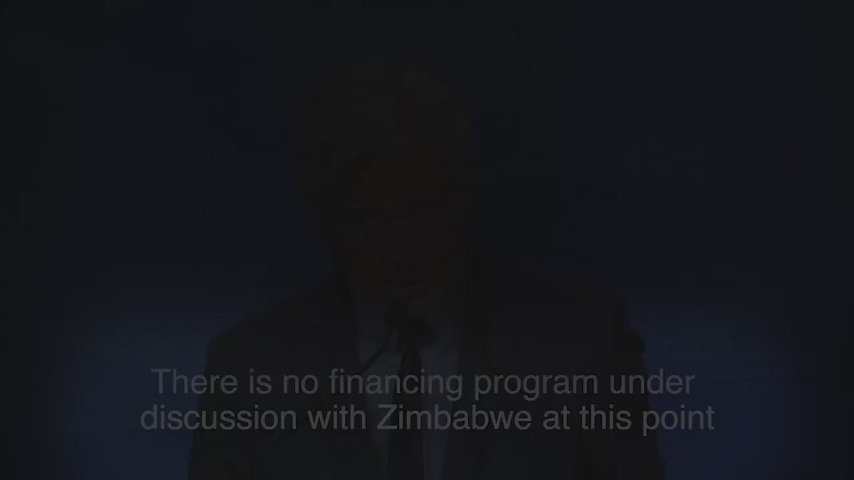 #Zimbabwe: no financing program being discussed with the country at this point. https://t.co/QGaTYJm0lq