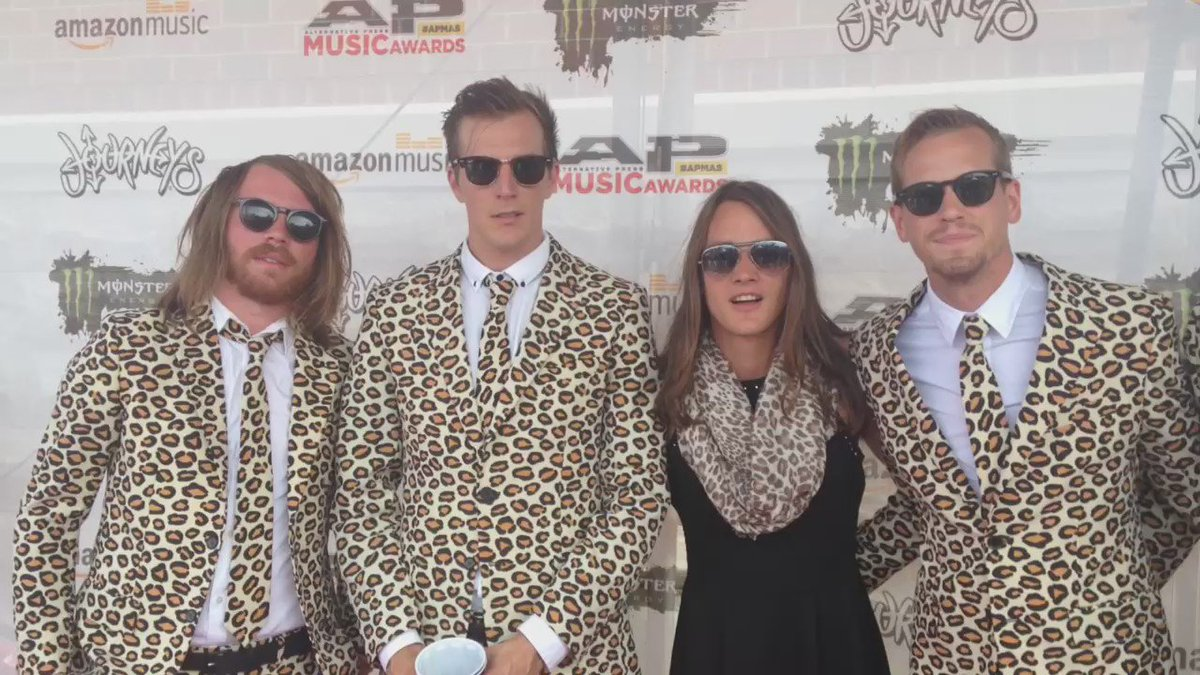 Members of @themaine in all their animal-print glory. #APMAS https://t.co/ZW7FC2zEHI