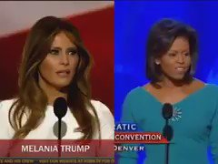 VIDEO: Watch how #MelaniaTrump allegedly plagiarized parts of #MichelleObama's 2008 speech https://t.co/4nfaSb5hGm https://t.co/vdjv1UJtGl