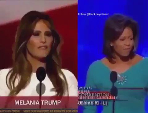"""""""These future Presidents wives coming over to our country and stealing our speeches"""""""
