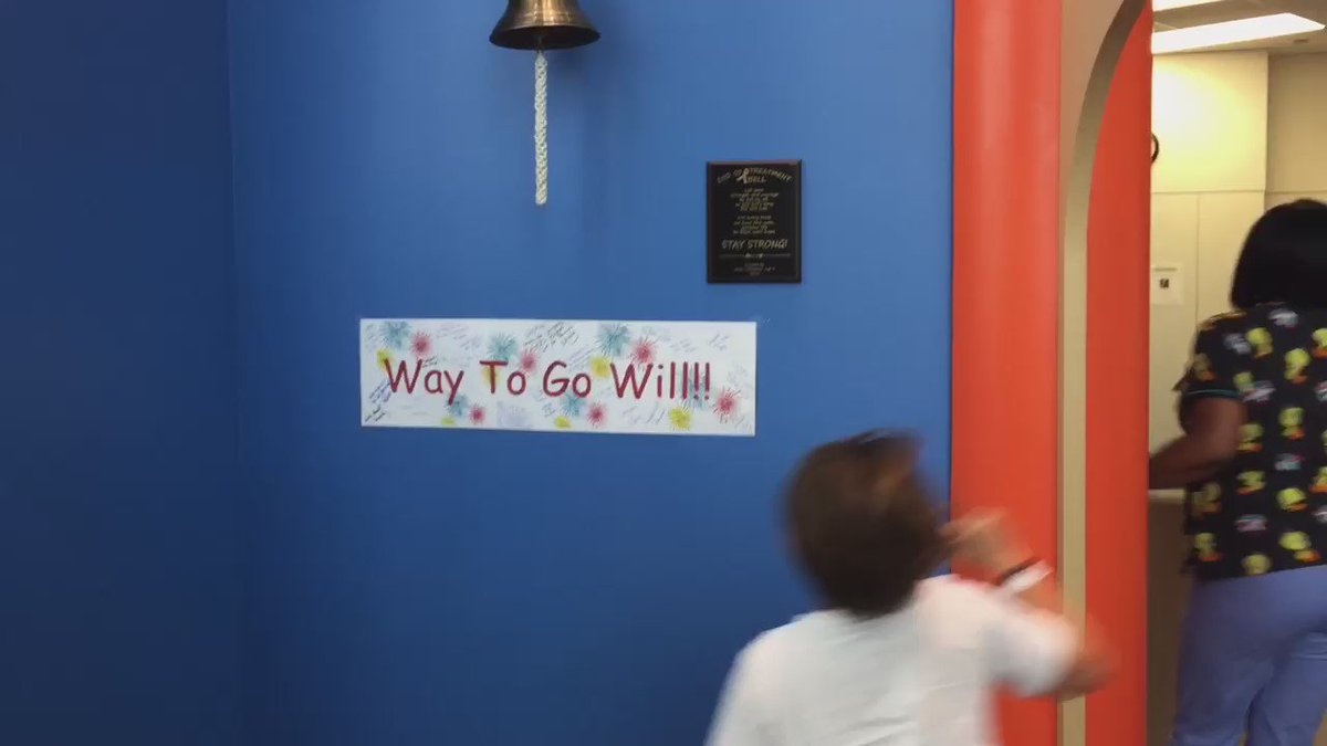 Since meeting @JJWatt, things continue to look up for Will. Last week he rang #TexasChildrens end of treatment bell! https://t.co/ikcWe5wd7h