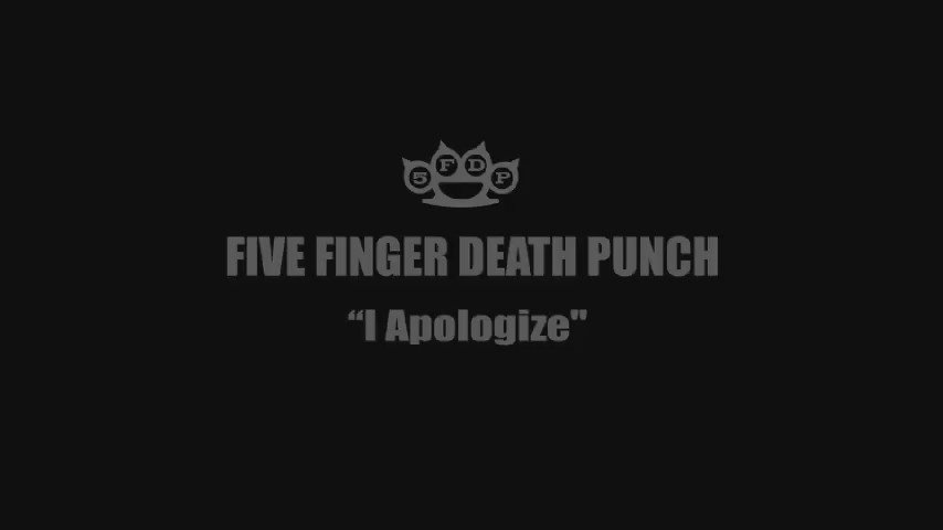 """Is it Friday yet?  Five Finger Death Punch - """"I Apologize"""" premieres 7.22.16"""