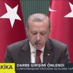 Cumhurbaşkanımız @RT_Erdogan: Kahraman Milletimden meydanlarda tuttuğu demokrasi nöbetini sürdürmesini rica ediyorum https://t.co/mvKu1uOhAE