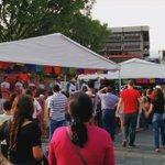 Así en el centro de #Cuernavaca por el inicio de la 8va. Edición de la Expo Pan 2016. Apoyemos productos locales. https://t.co/fuwAVxAMqK