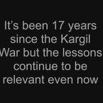 As we pay tribute to #KargilWar heroes on #KargilVijayDiwas, lets remember the lessons too: https://t.co/7TbLCAHK9L https://t.co/diajjq5dkA