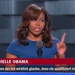 Auf dem Parteitag der US-Demokraten erklärt #MichelleObama, wieso Donald Trump nicht Präsident werden darf. https://t.co/Rfes95iYgS