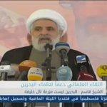 🎥 نائب الأمين العام لحزب الله الشيخ نعيم قاسم: السعودية هي المسؤول الأول عم يجري في #البحرين https://t.co/yXdJPCAbF2 https://t.co/dnnt6owB2g