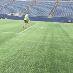 Just played football (both types) on the @Seahawks stadium turf! https://t.co/sJCgL2IlEI