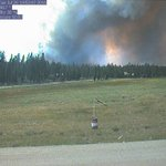 Time lapse video of #LavaMountainFire this afternoon from Snokaters webcam on Union Pass.  #wywx https://t.co/7GOGnItneF