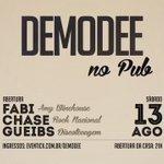 Galera vai rolar dia 13 um showzin da @demodeerock lá no pubfiction, tem ingresso a DEZ  Reais e R$15 com o cd. https://t.co/Np3gJcwI1e