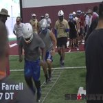 New #LSU DL commit Neil Farrell (@oops_imsopaid) has some quick feet for a big man. @valleyshook https://t.co/pJnwuvUnzr
