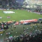 Recebimento da torcida do Atlético Nacional hoje. Pirotecnia não é crime. Não ao futebol moderno. https://t.co/xNxd6jKktR