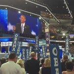"#Obama speaks, audience yells back ""Best president ever!"" & ""I love you!"", recites Declaration of Independence w/him https://t.co/BnhHUDrEPm"