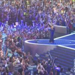 Crowd roars as POTUS @BarackObama & @HillaryClinton close out Day 3 of the #DemConvention! #BETxDNC #DemsInPhilly https://t.co/X2wgnHwhMk
