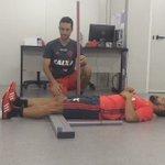 Mais novo reforço rubro-negro, o meia Diego faz avaliação física no CEP FLA #TRFla https://t.co/F9lJItCYfP