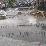 One reason for todays traffic jam...NHAI drain mess near Hero Honda Chowk https://t.co/150GQEh6sZ