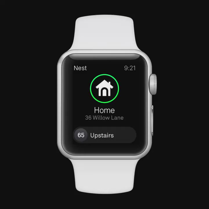 It's a great day for wrists. You can now control the temp of your Nest Thermostat, right from your Apple Watch. https://t.co/QZ5hwh4Qrt