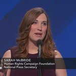 Sarah McBride is the first transgender speaker to address a major partys national convention #DemsInPhilly https://t.co/s8E5TfgaTd