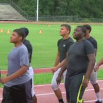 The W-M football team held a 3-day boot camp with the @USMC.  Thanks to the Indians for inviting @KPLC7Sports! https://t.co/HlgTpGPU7s