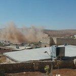 مشاهد من الغارات التي استهدفت بلدة #قبتان_الجبل بريف #حلب الغربي https://t.co/AfrRZe26Tz
