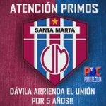 ATENCIÓN PRIMOS!!! CONFIRMADO!!! #UnionMagdalena #SoplaCiclon https://t.co/n2PgdBOoOJ