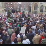 Panoramic photograph of Jeremy Corbyns rally in York last night. Ordinary people like you & me. Filled with hope. https://t.co/0cAUlc80bN