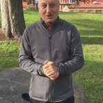 """Postpone your response "". My video message for you all from Adelaide.:) #AnupamCares https://t.co/qcRbCsgnTk"
