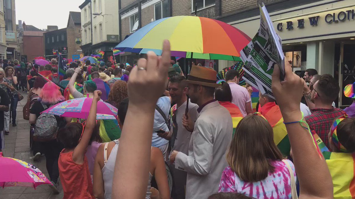 #NorwichPride2016 is making me wonderfully happy. #lovewins https://t.co/rLaseTCwCM