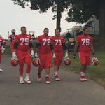 Eric Fisher and company heading to practice. Plenty of reasons to smile. https://t.co/LZOcIZV2dP
